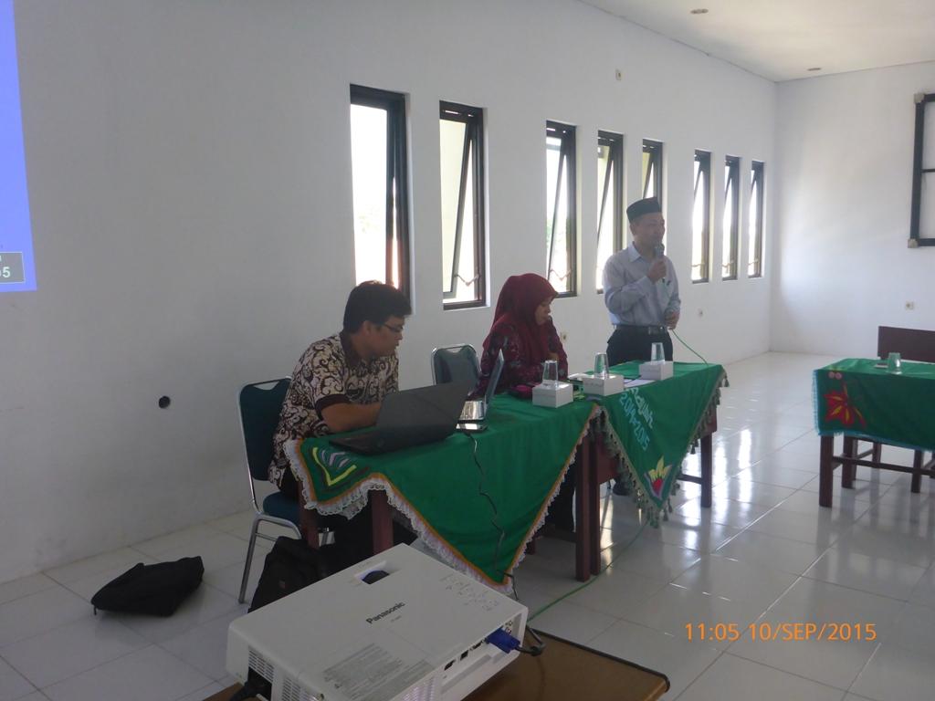 Sambutan Kepala Sekolah Pada Pelatihan EMIS Pondok Pesantren