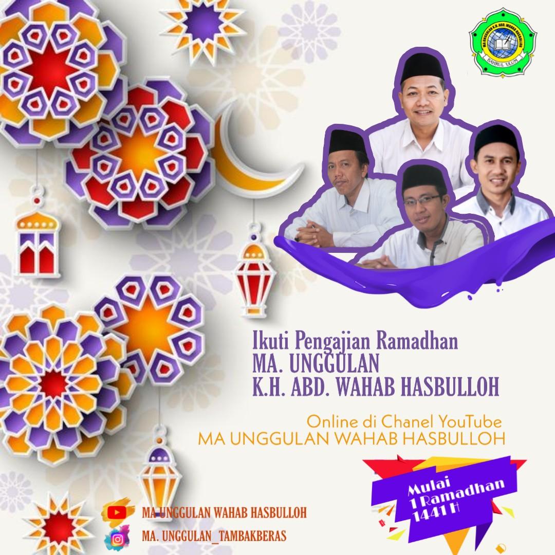 Pengajian Ramadhan Online MA Unggulan K.H. Abd. Wahab Hasbulloh