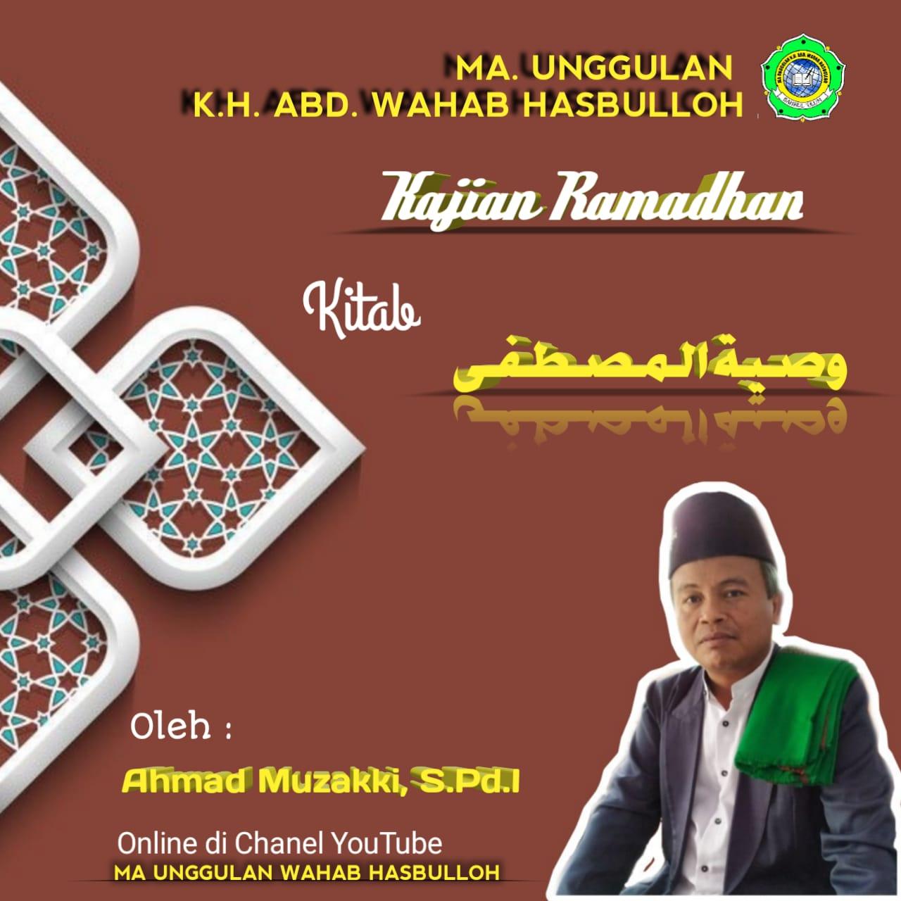 Pengajian Ramadhan Online MA Unggulan K.H. Abd. Wahab Hasbulloh (Day 6)