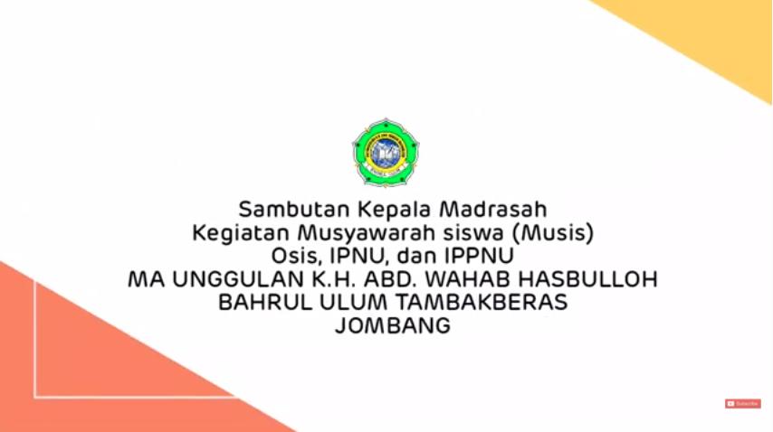 Sambutan Kepala Madrasah Dalam Rangka MUSIS